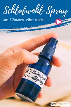 Make your own sleep comfort spray from 3 Schlafwohl-Spray selber machen aus 3 Zutaten Essential oils can help with sleep problems and inner restlessness. With this simple recipe for self-made sleep well spray, the pillow becomes a soothing sleep aid. Mason Jar Crafts, Mason Jar Diy, Diy Home Decor Projects, Diy Projects To Try, E Cosmetics, Aerosoles, Diy Hanging Shelves, Diy Beauty, Beauty Care