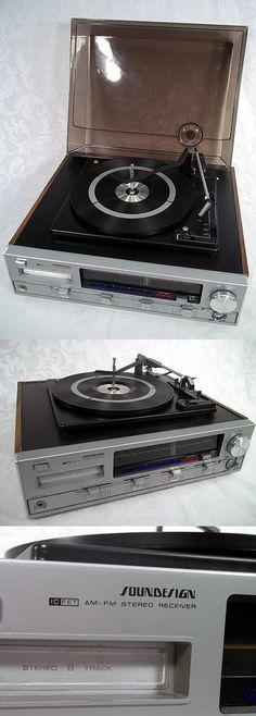 Vtg SOUNDESIGN 8 Track Turntable AM-FM Stereo Receiver Model# 4719