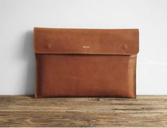 """Leather 13 """"Macbook Sleeve, MacBook 13 Pro, Office Bag, Laptop, Padded, Leather Sleeve, embossed great for a gift"""