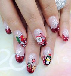 Xmas Nails, Christmas Nail Art, Holiday Nails, Polygel Nails, Bling Nails, Hair And Nails, Nails For Kids, Nail Art Videos, Christmas Nail Designs