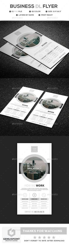 Buy Business DL Flyer by GeniusPoint on GraphicRiver. Features: DL Flyer Template Easy Customizable and Editable Print size: inches Final size: inches CM. Event Flyer Templates, Flyer Design Templates, Print Templates, Print Design, Web Design, Graphic Design, Design Ideas, Flyer Printing, Creative Design