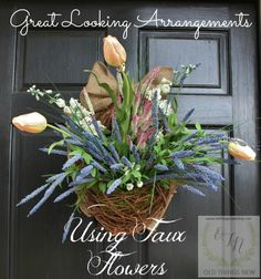 Spring Basket on Front Door 029a