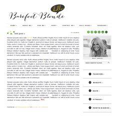 BAREFOOT BLONDE - Smitten Blog Designs