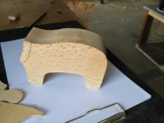 The first piece of the body is made,. now it needs a head.