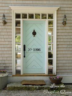 Leen the Graphics Queen - Street Number Door Decal, $10.00 (http://www.leenthegraphicsqueen.com/street-number-door-decal/)