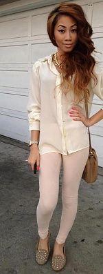 cute outfit & hair
