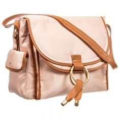 The pink Chloe baby changing bag represents a perfect balance between style and functionality. The main compartment has pouch pockets. Designer Changing Bags, Baby Changing Bags, Chloe, Pouch, Backpacks, Stylish, Sachets, Porch, Backpack