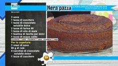 """La ricetta della torta nera pazza di Anna Moroni del 9 novembre 2016, a """"La prova del cuoco""""."""