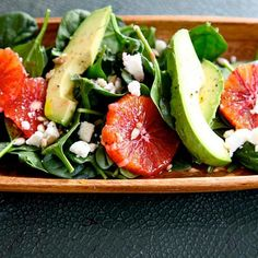 Spinach Feta Blood Orange Salad
