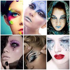 Creative fashion makeup collage inspiration