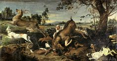 Frans Snyders or Snijders - Hirschjagd