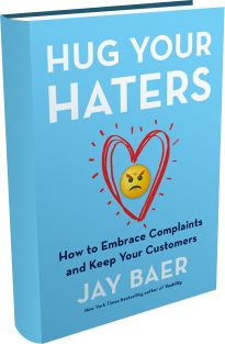 It's great to hear when people love the product or service you're evangelizing. But it is also very valuable (maybe more valuable) to hear what people don't like... Great book from Jay Baer about how you look at customers, complaints and customer service.