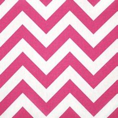 Hot pink chevron fabric