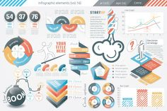 Infographic Elements (v16) by Infographic Paradise on Creative Market