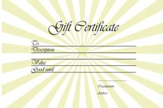 Free printable and editable gift certificate templates vintage gift voucher template star template yadclub Images