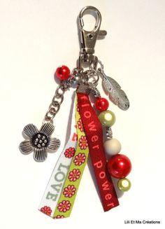 """Bijou de sac, porte-clés Grigri Lili et Ma Créations """"POWER FLOWER"""" : Autres bijoux par lili-et-ma-creations"""