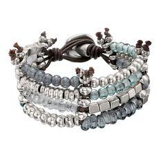 """Pulsera """"Kanication"""" de Uno de 50 estilo brazalete con cristales artesanales."""