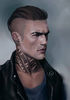 (Dimitri Holmes, formerly Dimitri Wolfhart, Male, Gay, Pure-blood, Ilvermorny graduate, Thunderbird, Tattoo Artist/Unspeakable/Infinity School of Magic Parent Volunteer, Christian's husband, Alphie and Greta's father, Alex's distant relative.) [alfa by IQuoter on DeviantArt]