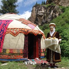 'Round, felt-covered yurts have been a centrepiece of Kyrgyz culture for centuries and are a familiar sight throughout the country.' Kyrgyzstan: the Bradt Guide; www.bradtguides.com