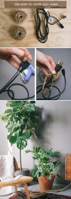 Wrap your cords in twine {smart!} by mystra