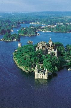 Thousand Islands, St. Lawrence Seaway, Ontario, Canada See more about thousand islands, islands and 1000 islands. Places Around The World, Oh The Places You'll Go, Places To Travel, Places To Visit, Around The Worlds, Ontario, Dream Vacations, Vacation Spots, Canada Winter