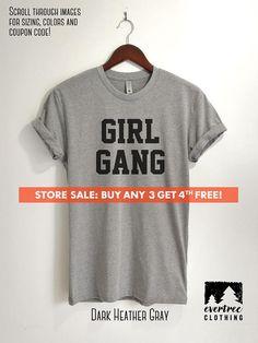 Girl Gang T-shirt Ladies Unisex Crewneck Shirt Cute Girl