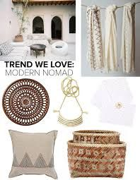 A mood board of neutral interior ideas to fit with the moden nomad way of life.
