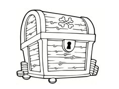 treasure chest coloring page printable how to draw treasure box projects to try