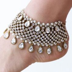 Handmade Indian wedding anklets    Available in silver or gold tone.