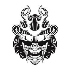 Japanese Hannya Mask, Japanese Mask Tattoo, Japanese Oni, Japanese Warrior, Hanya Mask Tattoo, Samurai Mask Tattoo, Oni Tattoo, Traditional Black Tattoo, Traditional Japanese Tattoos
