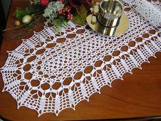 Crochet runner doily oval tablecloth crochet lace runner handmade centro cottone…