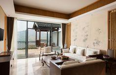 Lake View Villa Livingroom at Alila Anji