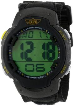 Uzi Men's Uzi-89-N The Guardian Black Nylon Strap Watch - http://www.specialdaysgift.com/uzi-mens-uzi-89-n-the-guardian-black-nylon-strap-watch/