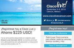 Sé parte de Cisco Live! Coming soon en noviembre en el bello Cancún, México.....http://bit.ly/1rz1Vtl