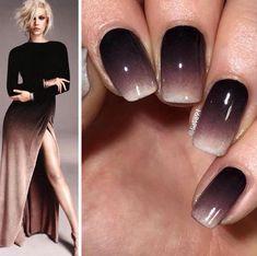 déco ongle gel ombré empruntée robe favorite #nail #decoration