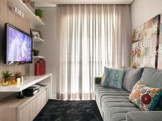 Image result for sala decorada pequena
