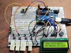 Arduino alarm clock with time setting you will learn to make digital clock using RTC module with alarm and temperature indication Engineering Projects, Arduino Projects, Arduino Programming, Liquid Crystal Display, Digital Clocks, Circuit Diagram, Buzzer, Alarm Clock, Music