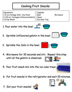 Cooking Fruit Snacks FREEBIE!