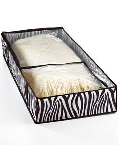 Whitmor Storage Bag, Zebra Underbed