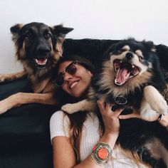 i mean, she looks happy, but I'm pretty sure this dog is happily choking her to death...