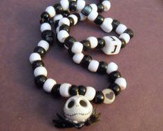 Jack Skellington Kandi Necklace by coleydinosaur on Etsy