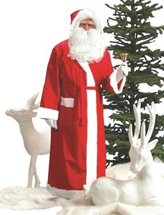 SANTA SELF ADHESIVE EYEBROWS WHITE FATHER CHRISTMAS FANCY DRESS ACCESSORY ADULTS