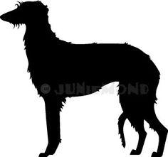 Deerhound-Silhouette  für eine Windhundausstellung