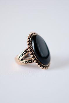 Onyx Antique Stone Ring