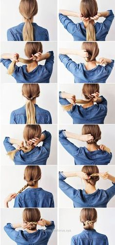 Check it out Tutorial on how to create a low braided bun style quickly The post Tutorial on how to create a low braided bun style quickly… appeared first on Hairstyles .