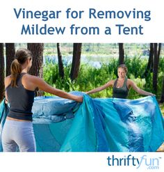 There are several common household products that can be used to remove mildew. This is a guide about vinegar for removing mildew from a tent.