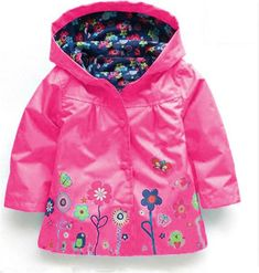 808285280 Baby Girls Windbreaker 2019 Spring Jackets For Girls Trench Coat Raincoat Kids  Outerwear Coat For Girls
