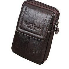 Oferta: 14.31€. Comprar Ofertas de Cell Teléfono móvil Funda de piel auténtica hombres cinturón monedero riñonera bolsa de cintura barato. ¡Mira las ofertas!