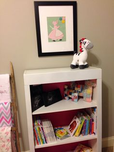 Added face frame to standard bookcase & painted back board Berry Pink.
