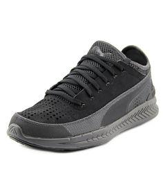 Puma Ignite Sock Reflecive Round Toe Synthetic Sneakers, Black